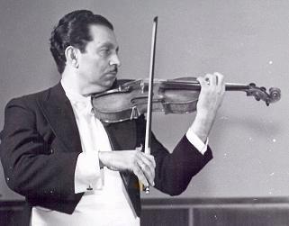Balogh Ferenc hegedűművész, a kolozsvári Konzervatórium professzora