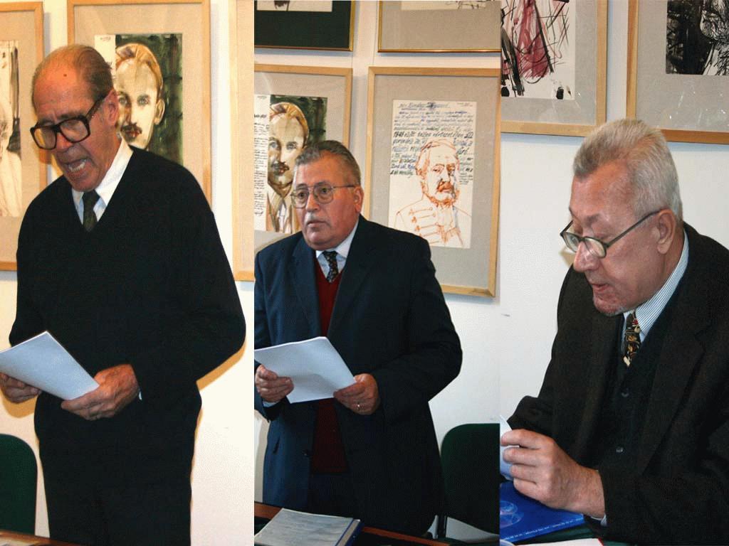 Az előadók: Dávid Gyula, Cseke Péter, Horváth Andor