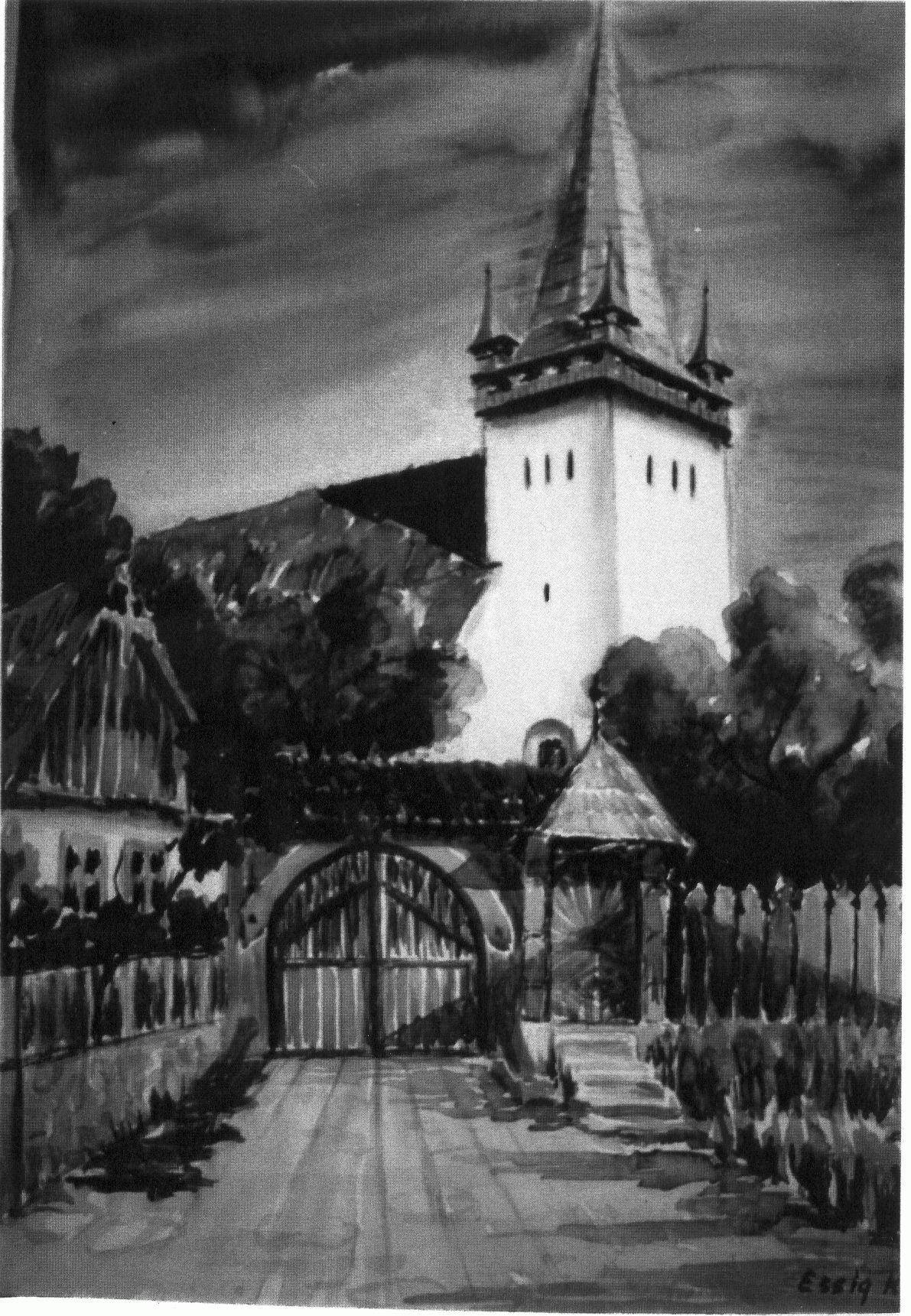 Essig Klára: Magyarbikali református templom (1998)