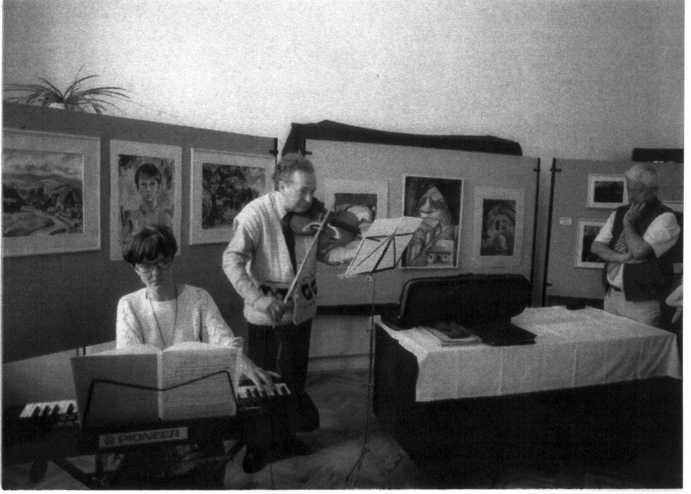 A kiállítást követő hangverseny (Botár Katalin, Ruha István, Banner Zoltán), 1998.