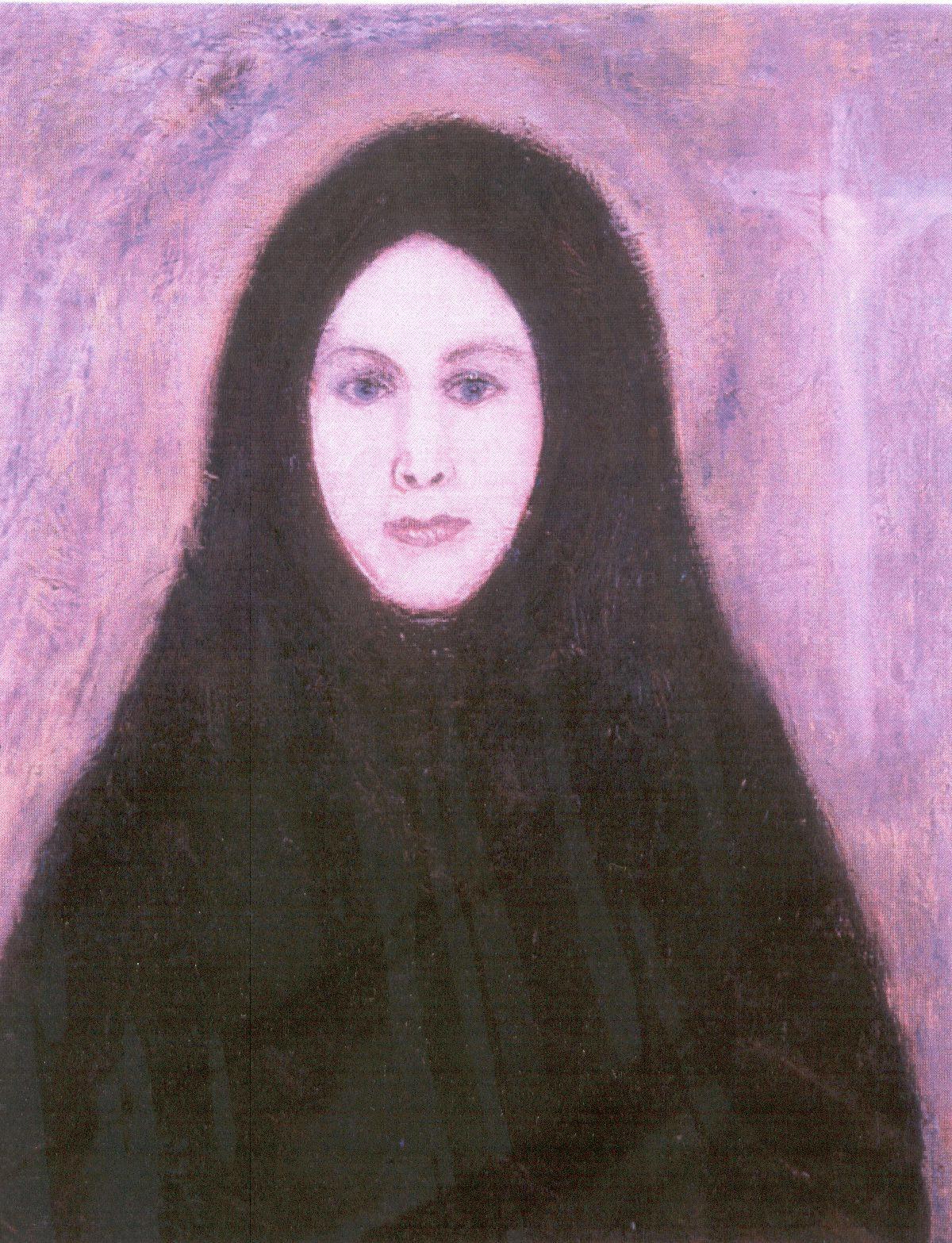 Györkös Mányi Albert: Falusi Madonna (1985. olaj vászonra)