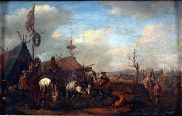 Philips Wouwerman: Katonai tábor