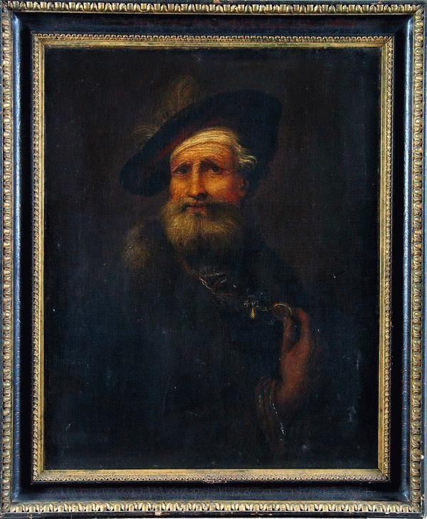 Rembrant után: Svájci sapkás férfi