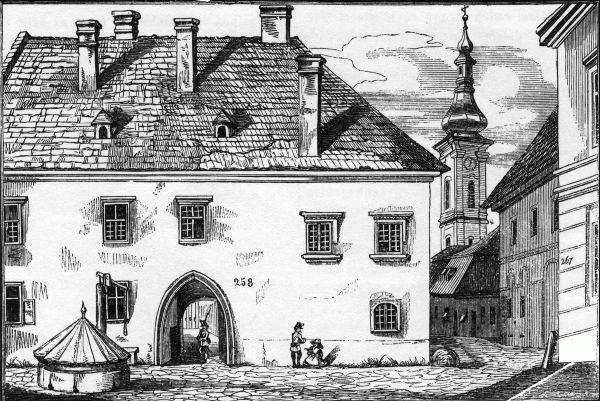 Mátyás király szülőháza Kazinczy korában.